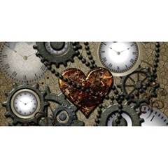 Steampunk With Heart You Are Invited 3d Greeting Card (8x4)  by FantasyWorld7