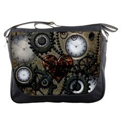 Steampunk With Heart Messenger Bags by FantasyWorld7