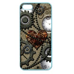 Steampunk With Heart Apple Seamless Iphone 5 Case (color) by FantasyWorld7