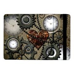 Steampunk With Heart Samsung Galaxy Tab Pro 10 1  Flip Case by FantasyWorld7