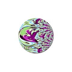 Purple, Green, And Blue Abstract Golf Ball Marker by theunrulyartist
