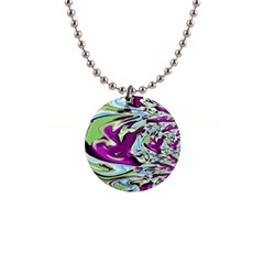 Purple, Green, And Blue Abstract Button Necklaces by theunrulyartist