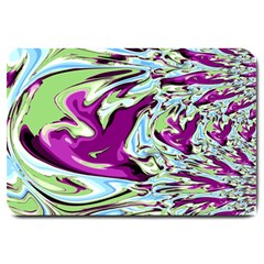 Purple, Green, And Blue Abstract Large Doormat