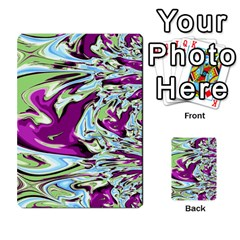 Purple, Green, And Blue Abstract Multi Purpose Cards (rectangle)  by theunrulyartist