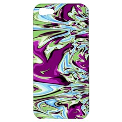 Purple, Green, And Blue Abstract Apple Iphone 5 Hardshell Case by theunrulyartist