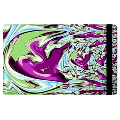 Purple, Green, And Blue Abstract Apple Ipad 2 Flip Case by theunrulyartist