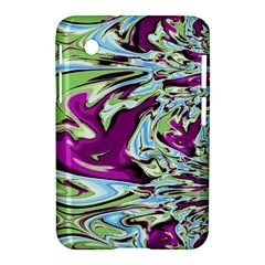 Purple, Green, And Blue Abstract Samsung Galaxy Tab 2 (7 ) P3100 Hardshell Case  by theunrulyartist