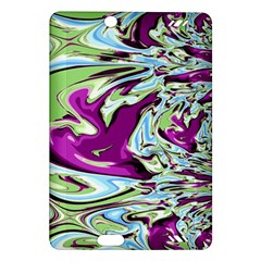 Purple, Green, and Blue Abstract Kindle Fire HD (2013) Hardshell Case by theunrulyartist