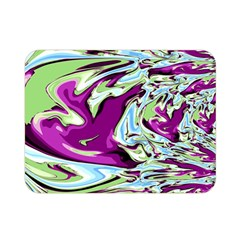 Purple, Green, And Blue Abstract Double Sided Flano Blanket (mini)  by theunrulyartist