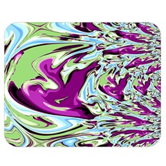 Purple, Green, And Blue Abstract Double Sided Flano Blanket (medium)  by theunrulyartist