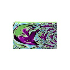 Purple, Green, And Blue Abstract Cosmetic Bag (xs) by digitaldivadesigns
