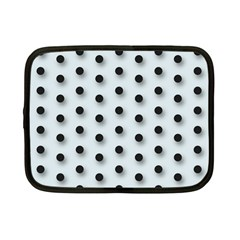 Black And White Polka Dot  Netbook Case (small)