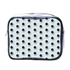 Black And White Polka Dot  Mini Toiletries Bags by OCDesignss