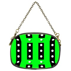Florescent Green Polka-dot  Chain Purses (two Sides)