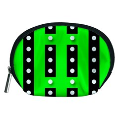 Florescent Green Polka Dot  Accessory Pouches (medium)  by OCDesignss