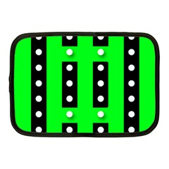 Florescent Green Black Polka Dot  Netbook Case (medium)  by OCDesignss