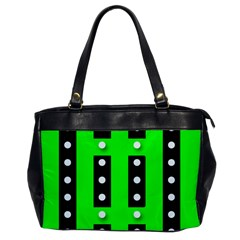 Florescent Green Black Polka Dot  Office Handbags by OCDesignss