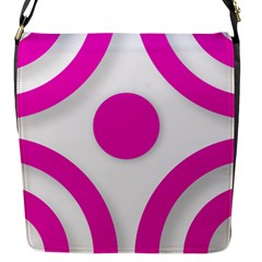 Florescent Pink White Abstract  Flap Messenger Bag (s)