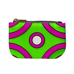Neon Green Black Pink Abstract  Mini Coin Purses by OCDesignss