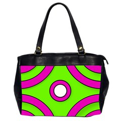 Neon Green Black Pink Abstract  Office Handbags (2 Sides)