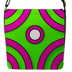 Neon Green Black Pink Abstract  Flap Messenger Bag (s)