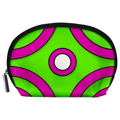 Neon Green Black Pink Abstract  Accessory Pouches (large)
