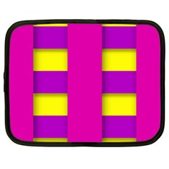 Florescent Pink Purple Abstract  Netbook Case (xl)