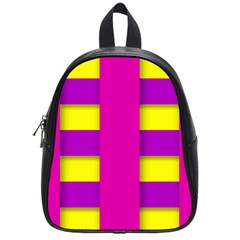 Florescent Pink Purple Abstract  School Bags (small)