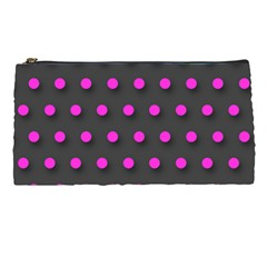 Pink Grey Polka Dot  Pencil Cases by OCDesignss