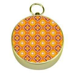 Cute Pattern Gifts Gold Compasses by creativemom