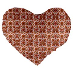 Cute Pattern Gifts Large 19  Premium Heart Shape Cushions by creativemom