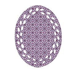 Cute Pattern Gifts Oval Filigree Ornament (2 Side)