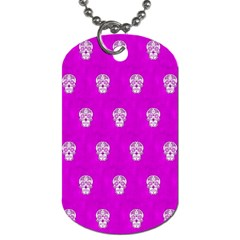Skull Pattern Hot Pink Dog Tag (one Side) by MoreColorsinLife
