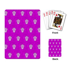 Skull Pattern Hot Pink Playing Card by MoreColorsinLife