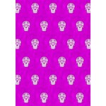 Skull Pattern Hot Pink GIRL 3D Greeting Card (7x5)  Inside