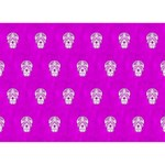 Skull Pattern Hot Pink GIRL 3D Greeting Card (7x5)  Back