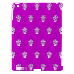 Skull Pattern Hot Pink Apple Ipad 3/4 Hardshell Case (compatible With Smart Cover) by MoreColorsinLife