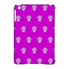Skull Pattern Hot Pink Apple Ipad Mini Hardshell Case (compatible With Smart Cover) by MoreColorsinLife