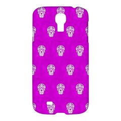 Skull Pattern Hot Pink Samsung Galaxy S4 I9500/i9505 Hardshell Case by MoreColorsinLife