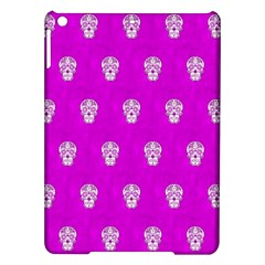 Skull Pattern Hot Pink Ipad Air Hardshell Cases by MoreColorsinLife