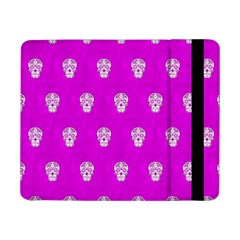 Skull Pattern Hot Pink Samsung Galaxy Tab Pro 8 4  Flip Case by MoreColorsinLife