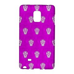 Skull Pattern Hot Pink Galaxy Note Edge by MoreColorsinLife