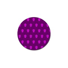 Skull Pattern Purple Golf Ball Marker (4 Pack) by MoreColorsinLife