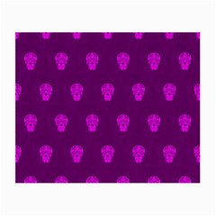 Skull Pattern Purple Small Glasses Cloth (2 Side) by MoreColorsinLife