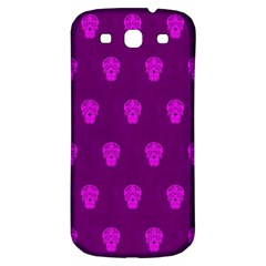 Skull Pattern Purple Samsung Galaxy S3 S Iii Classic Hardshell Back Case by MoreColorsinLife