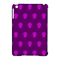 Skull Pattern Purple Apple Ipad Mini Hardshell Case (compatible With Smart Cover) by MoreColorsinLife