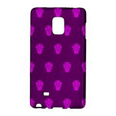 Skull Pattern Purple Galaxy Note Edge by MoreColorsinLife