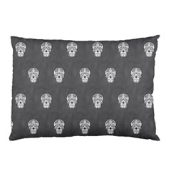 Skull Pattern Silver Pillow Cases by MoreColorsinLife