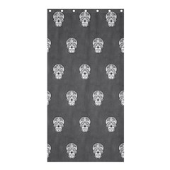 Skull Pattern Silver Shower Curtain 36  X 72  (stall)  by MoreColorsinLife