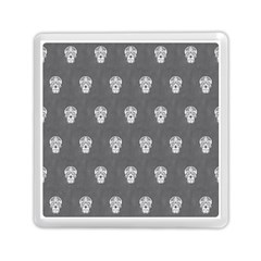Skull Pattern Silver Memory Card Reader (square)  by MoreColorsinLife